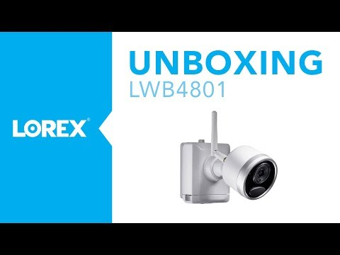Unboxing the LWB4801 Wire Free Security Camera from Lorex