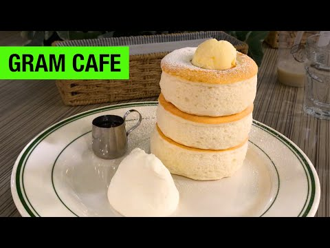 Fluffy Souffle Pancakes at Gram Cafe