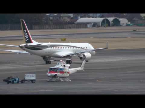 MRJ 3号機 2月2日のテスト飛行・スタートから離陸・着陸までのダイジェスト版!!