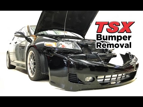 2004-08 Acura TSX front bumper removal - DIY