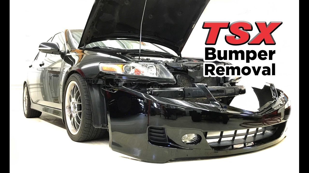 hight resolution of 2004 08 acura tsx front bumper removal diy