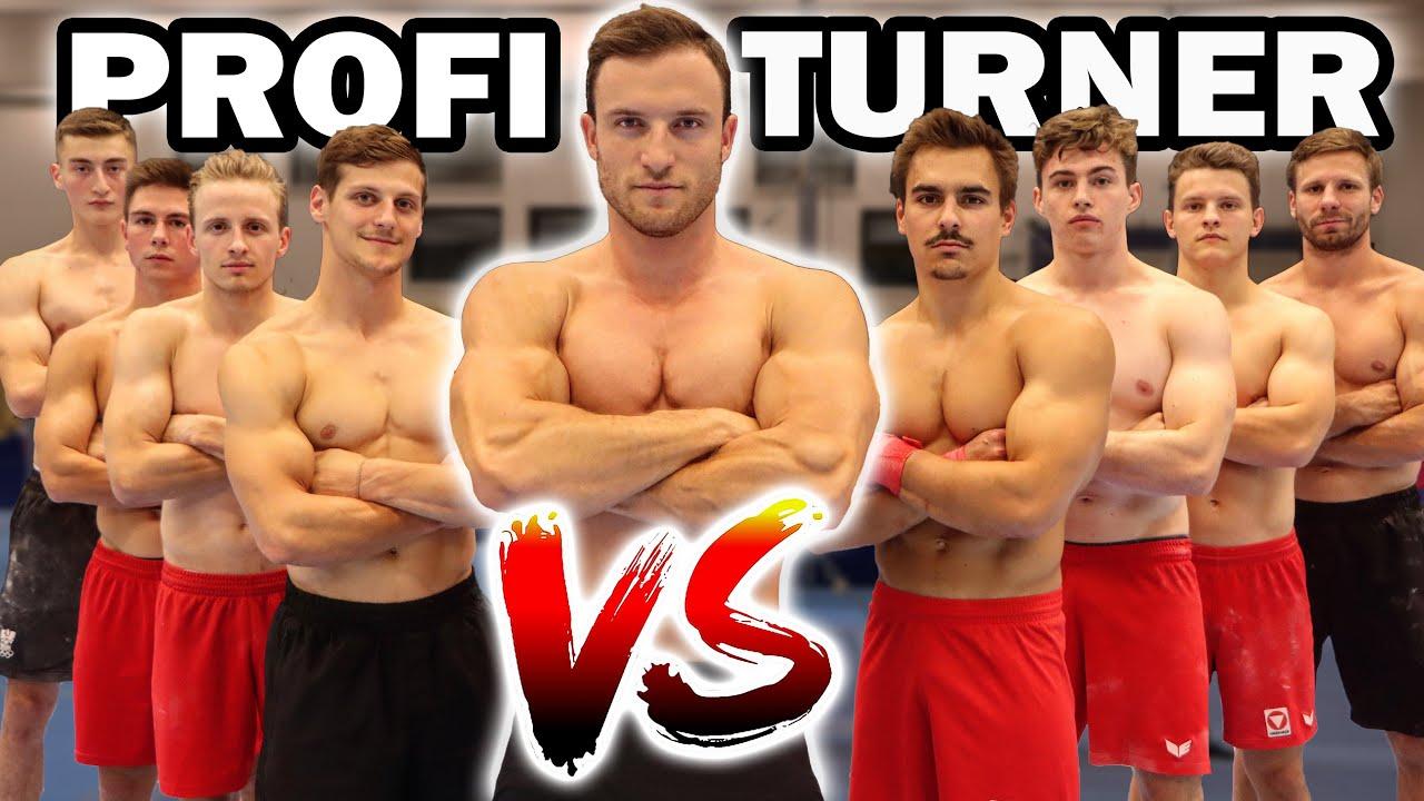 Sascha Huber VS. Profi Turner | Nationalteam gegen Fitness Youtuber!
