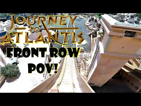 Journey to Atlantis (SeaWorld Orlando) Front Row POV In HD 2017!