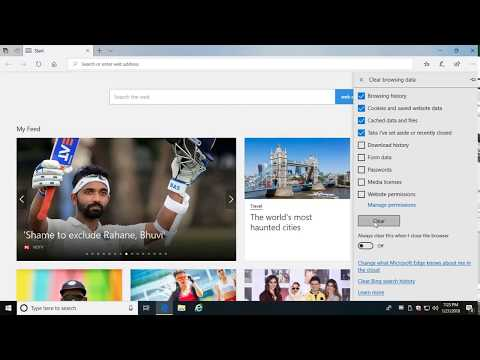 How to Clear Browsing Data in Microsoft Edge in Windows 10 (Tutorial)