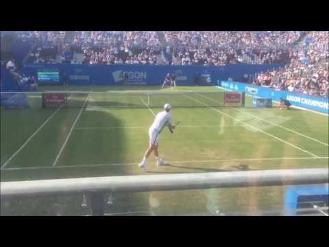 Tomas Berdych vs Denis Shapovalov - Court Level Highlights - Queen's Club 2017 R2