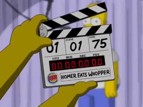 Burger King The Simpsons Movie Homer Eats Whopper 2007 Usa Youtube