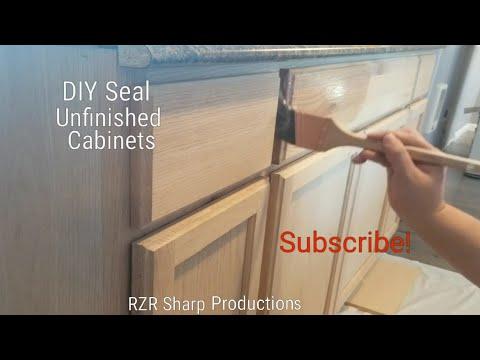 DIY Unfinished Cabinets Sealed
