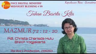 Download MB#99, Mazmur 72:12-20, Pdt. Christa Charisda Hulu, BNKP Yogyakarta