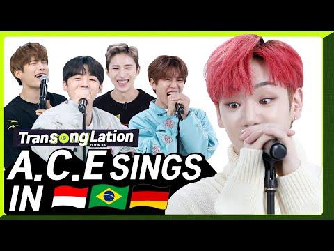 K-POP STARS Sing In THREE Languages🎤  INA/POR/GER   A.C.E   TRANSONGLATION
