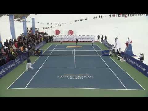 Roger Federer vs. Lindsey Vonn - OFFICIAL #ChocolateHeaven Event