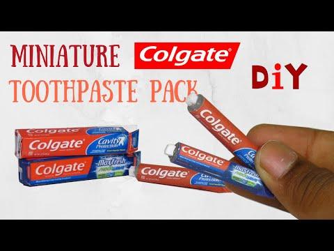 MINIATURE COLGATE TOOTHPASTE | Realistic DIY Tutorial
