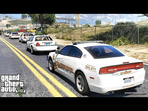 GTA 5 MODS LSPDFR 937 - CHARGER PATROL!!! (GTA 5 REAL LIFE PC MOD)
