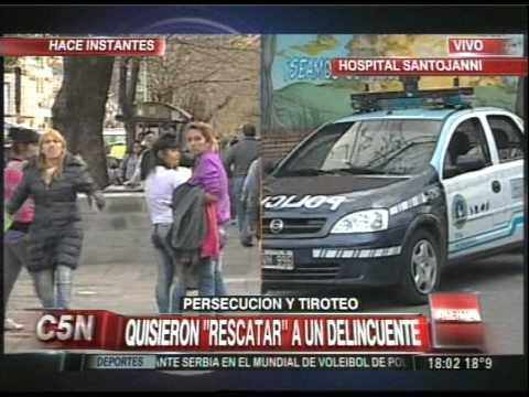 C5N - POLICIALES: TENSION EN EL HOSPITAL SANTOJANNI (PARTE 2)