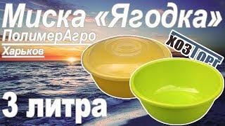 Обзор миска пластиковая «Ягодка» 3 литра (ПолимерАгро)