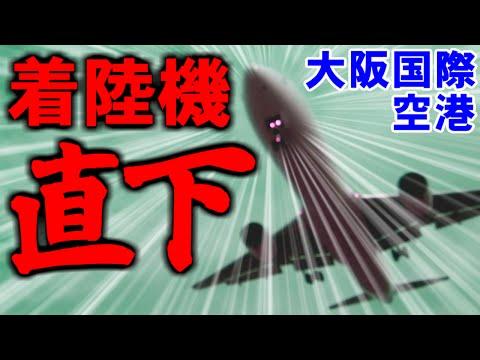 [伊丹空港] 着陸機の真下で撮影(昼) - 千里川堤防 [大阪国際空港,OLYMPUS STYLUS XZ-2]