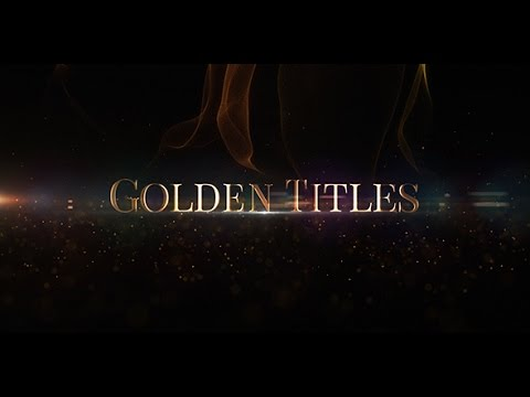 Golden Titles ( After Effects Project Files)