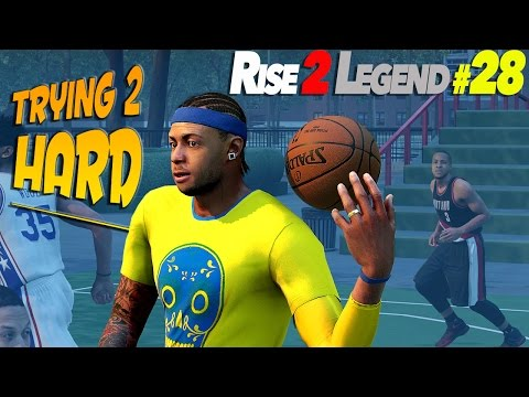 Trying Too Hard - NBA 2K16 MyPark 3v3 Rise To Legend #28