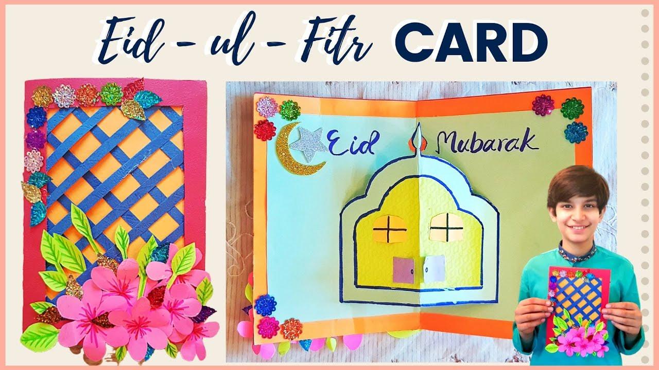 easy diy eid ul fitr card quarantine edition  how to