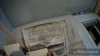 4. Ремонт санузла в частном доме. Снова подоконник. Наглядно показываю как вырезать плитку.