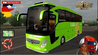 Euro Truck Simulator 2 (1.35)   Mercedes Benz Travego Bus in Germany + DLC's & Mods  Support me please thanks Support me economically at the mail vanelli.isabella@gmail.com  Roadhunter Trailers Heavy Cargo  http://roadhunter-z3d.de.tl/ SCS Software Mercha