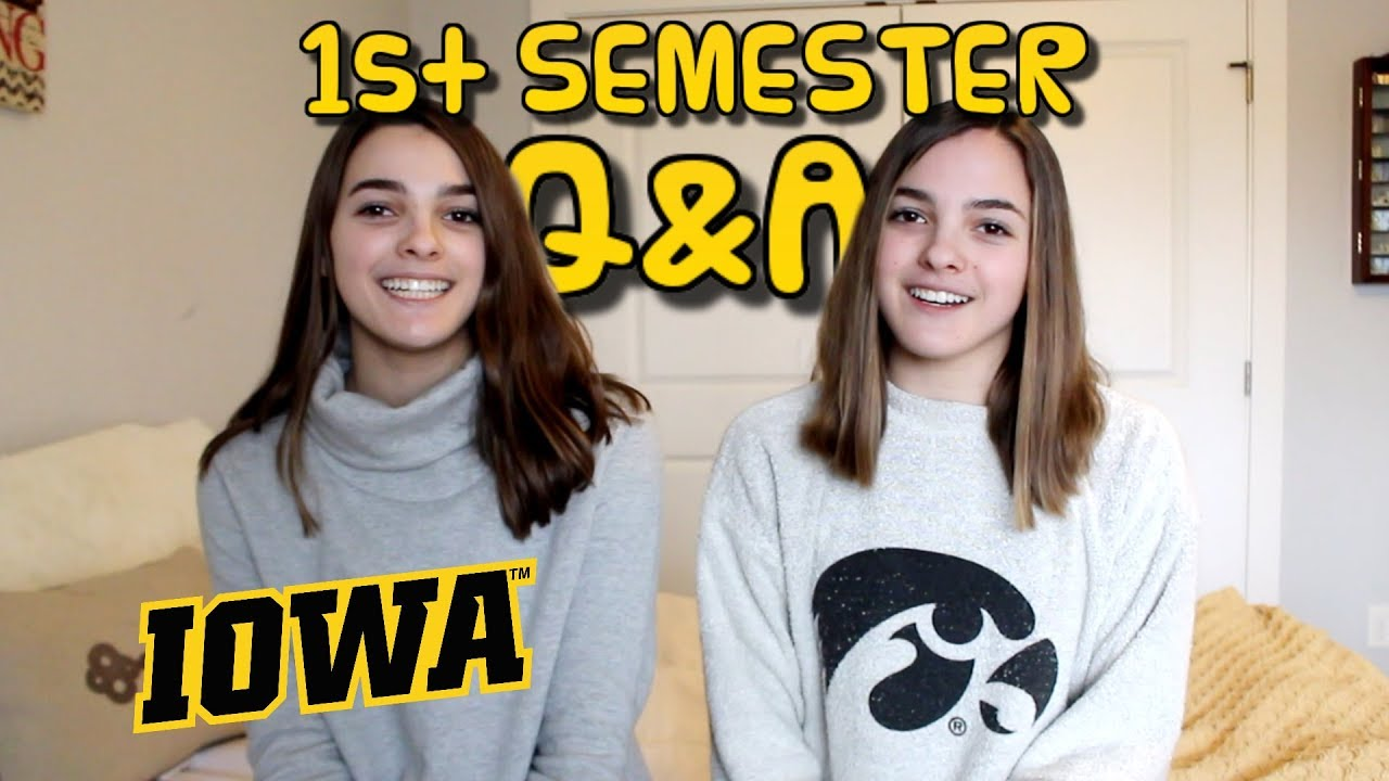 our first semester at college q a megan and ciera youtube