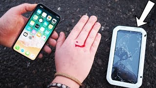 Делаем НЕУБИВАЕМЫЙ iPhone X за 21$. Drop Test iPhone X до крови.. - Посылка с Aliexpress