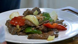 Thai Stir fry Beef in Oyster Sauce