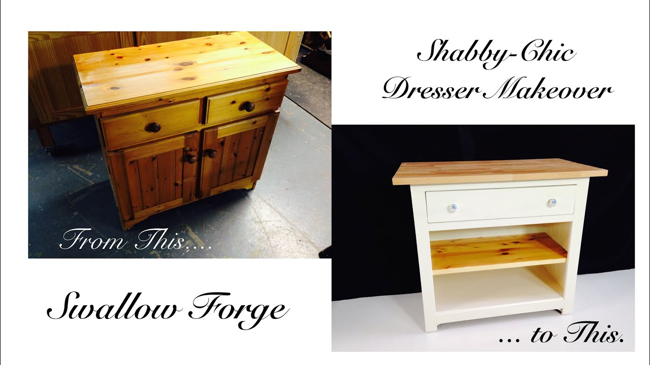 Furniture Upcycling   Turning An Old Dresser Into A Shabby Chic Baby  Changing Unit   YouTube