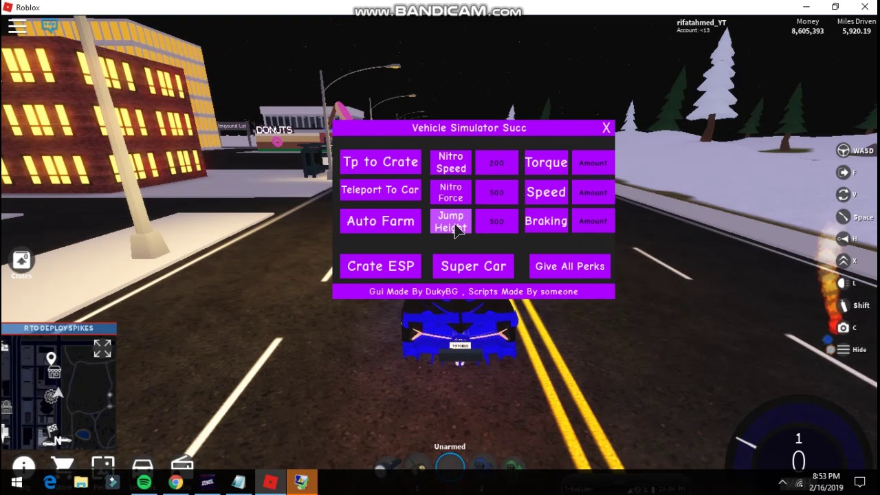New Vehicle Simulator Script Hack 2019 Afk Driving Nitro And More