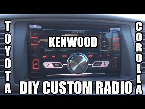 Installing an AFTERMARKET RADIO in a 2001-2007 Corolla!