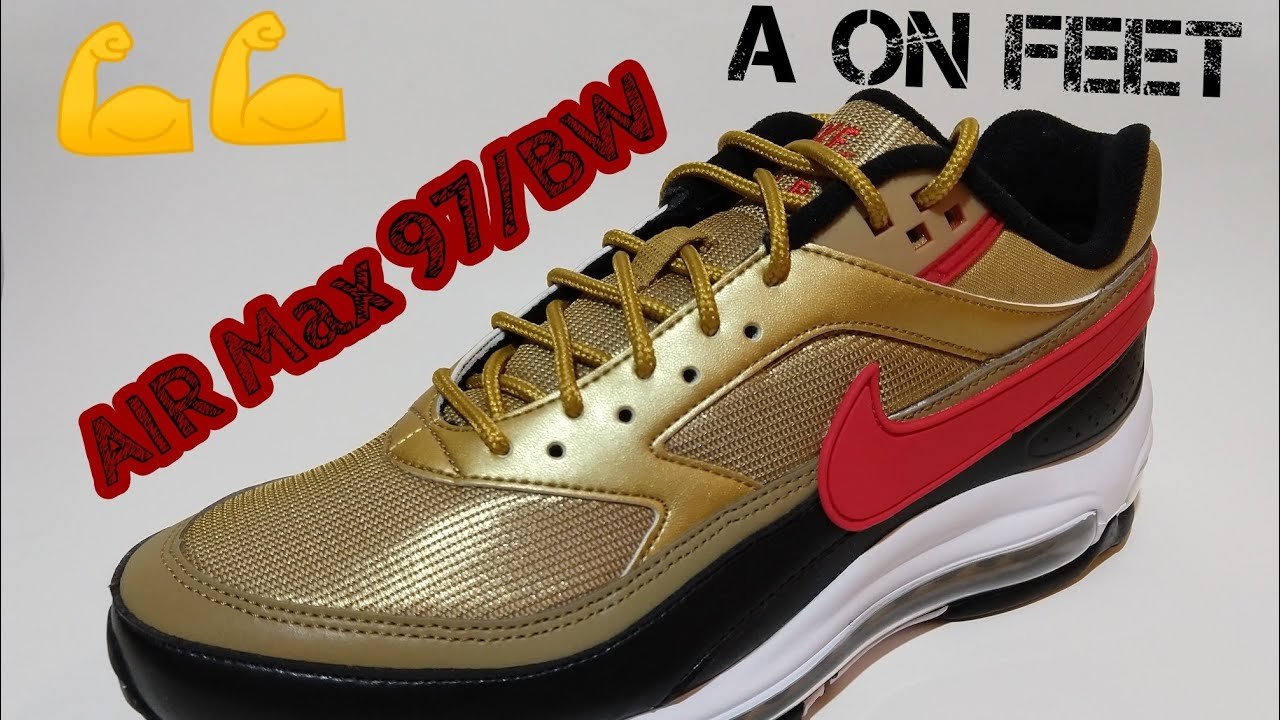 022e5c51c AIR Max 97 BW METALLIC GOLD - YouTube