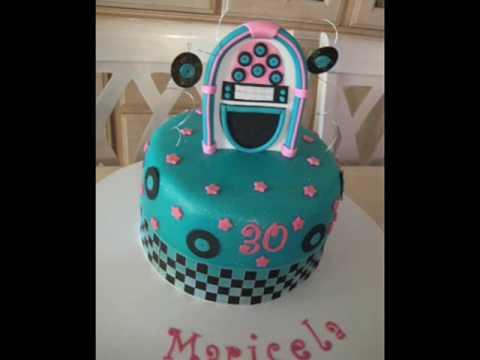 1950s Rock N Roll Themed Fondant Cake YouTube