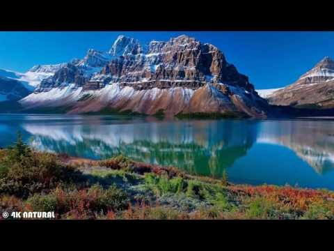 Beautiful Mountains 4K   3 Hours Relaxing Nature Sounds   The most beautiful places of the planet ea