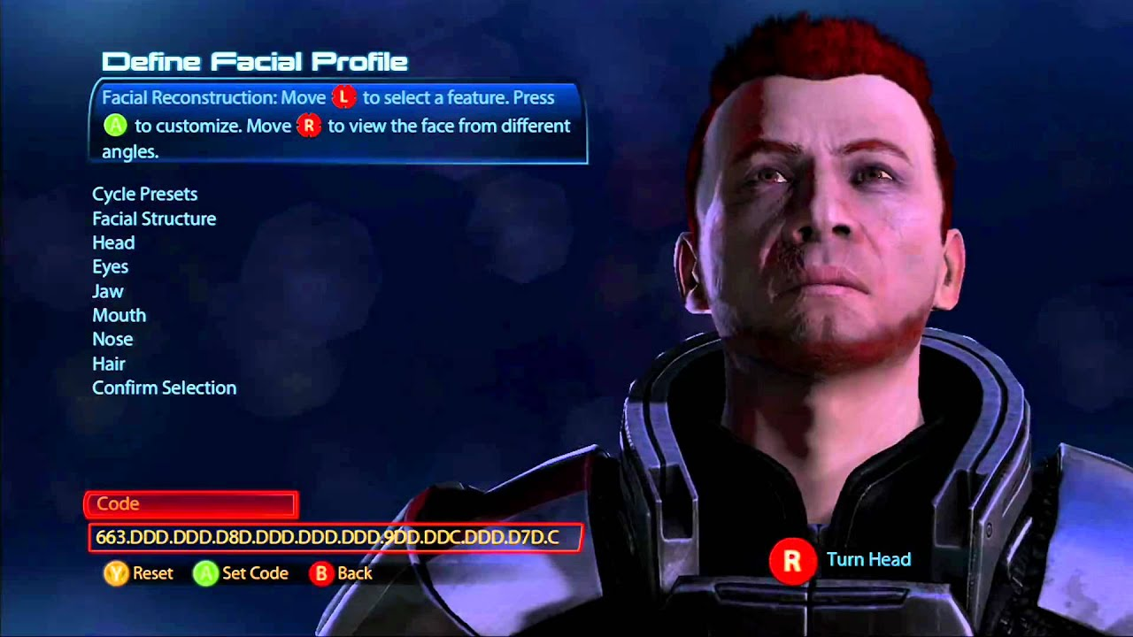 mass effect 3 playable customization faces male version. Black Bedroom Furniture Sets. Home Design Ideas