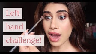 Full Face using only my LEFT HAND!!! 😰 | Malvika Sitlani