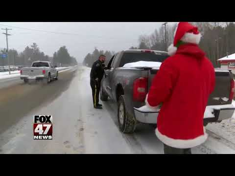 Police hand out turkeys instead of civil infractions