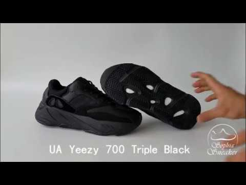 baf42c74683 Sophia Review For UA Yeezy 700 Triple Black - YouTube