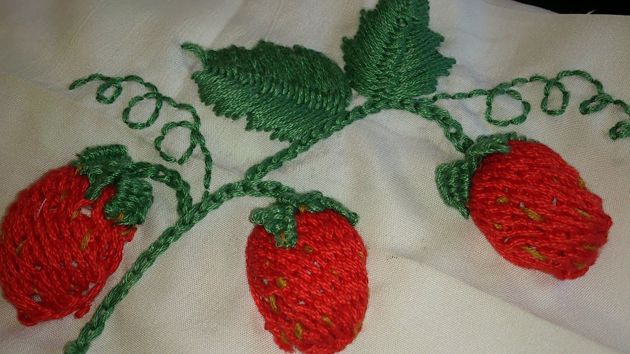 Hand Embroiderystrawberries