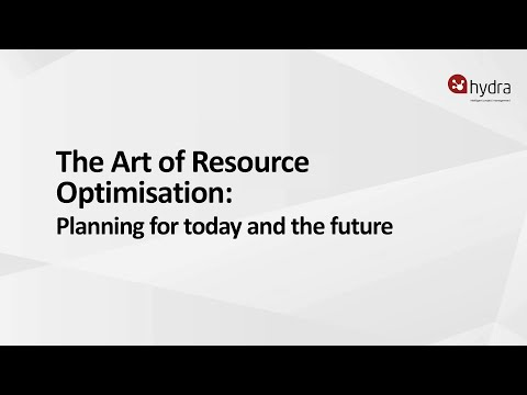 Resource Optimisation: Planning for Today and The Future