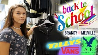 BACK TO SCHOOL CLOTHES SHOPPING VLOG/ HAUL! EMMA AND ELLIE