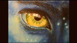 НЕ сложный рисунок Масляной пастелью   КАК нарисовать глаз АВАТАР(Совсем не сложный рисунок масляной пастелью просто берем и рисуем . ПРОСТЫЕ 3D рисунки - http://www.youtube.com/playlist?list=P..., 2016-03-09T00:05:40.000Z)