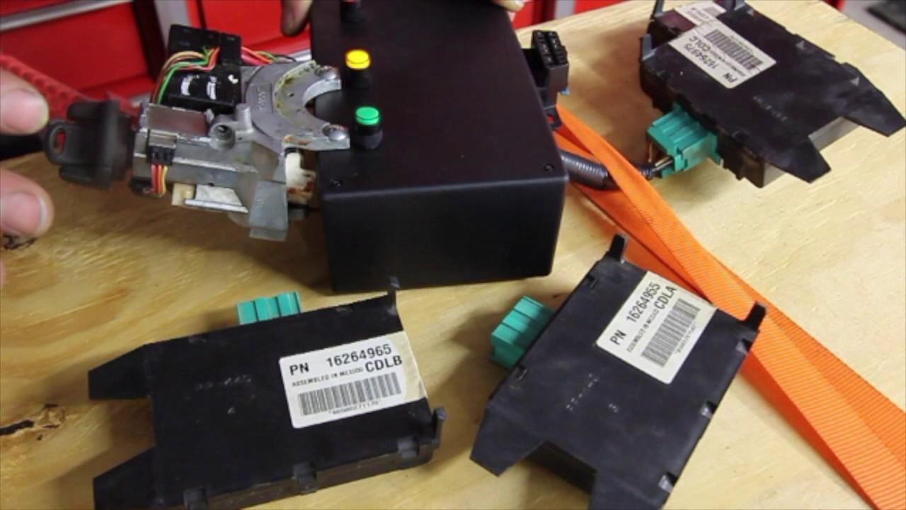 small resolution of chevy silverado tahoe suburban truck van cranks no start passlock anti theft vats module testing