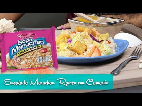 Ensalada con Camarones Frutales I Maruchan Ramen