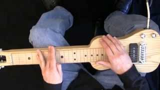 """Sleep Walk"" on C6 Lap Steel Guitar Performance and Lesson"