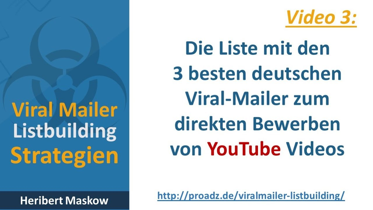 klicks youtube videos bewerben viral mailern promoten - Youtube Video Bewerben