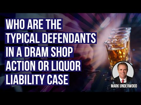 Who are the typical defendants in a dram shop action or liquor liability case?