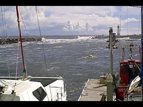 NOTE DATE: Feb 27, 2010.- Tsunami In Santa Cruz Harbor,  Desc At Rt -by Diane Rejman