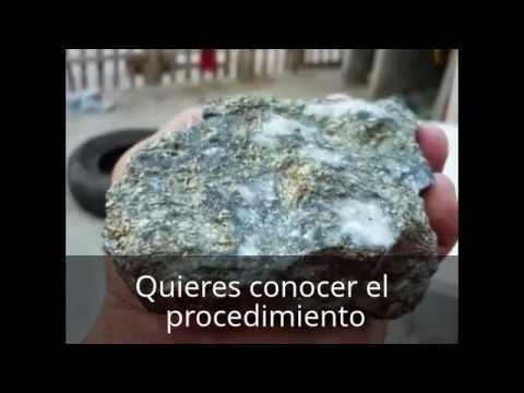 Como Separar El Oro De La Piedra Youtube