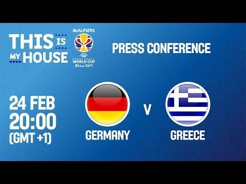 Germany v Greece - Press Conference