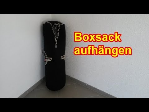 boxsack richtig aufh ngen sandsack befestigen. Black Bedroom Furniture Sets. Home Design Ideas